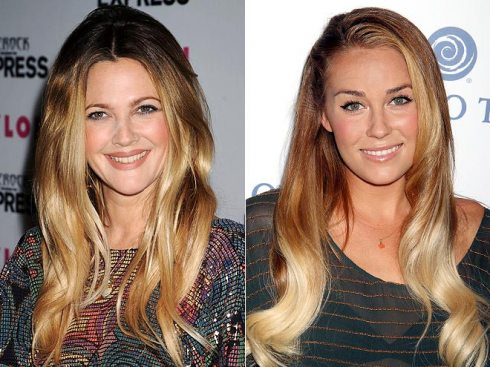 ombre highlights mechas texanas