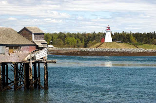 Lubec Maine Smokehouse and Mulholland Point Lighthouse Canada