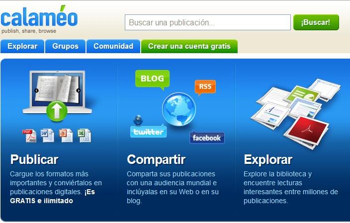 calameo es un programa que crea publicaciones web interactivas tiene ...