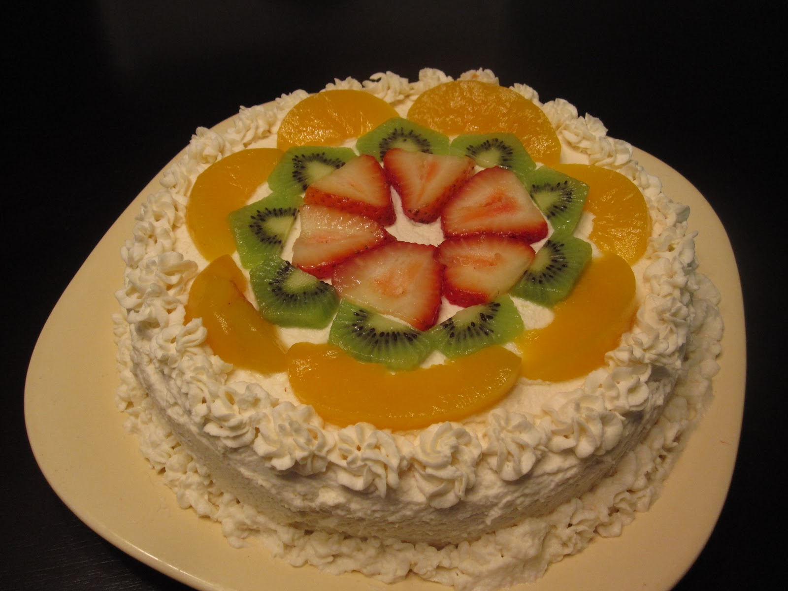 Торт с фруктами и с зефиром фото рецепт пошаговый
