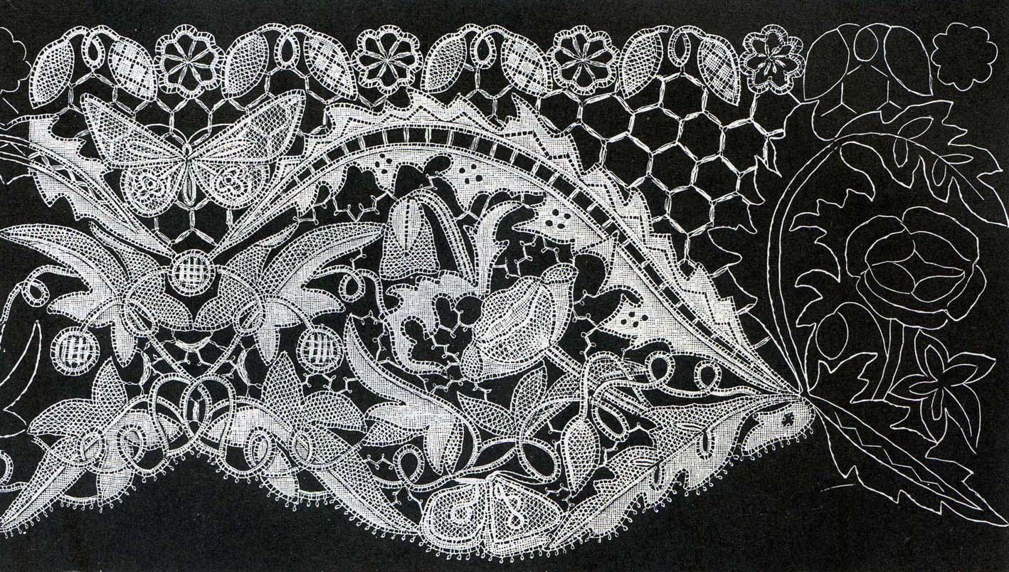 Honiton Lace Patterns Illustration Honiton Lace