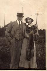 Niels Henrik og Ditten Kragh ca.1933. På ferie i Skagen.