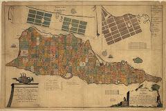 Jens Michelsen Becks kort over Skt.Croix fra 1754