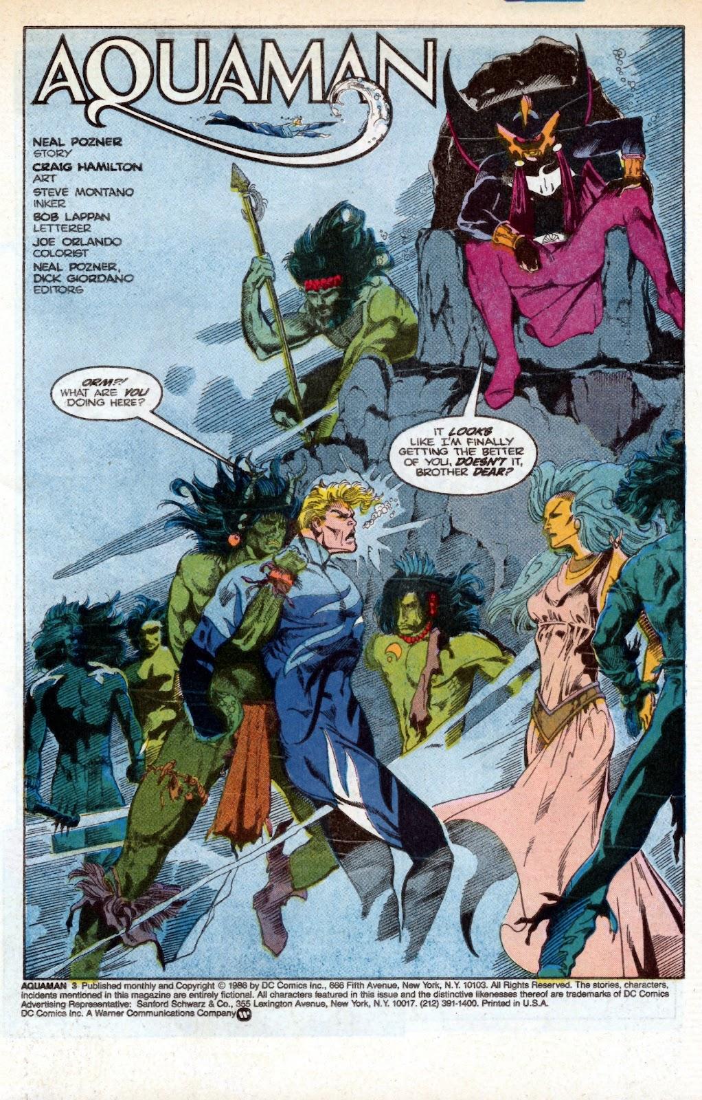 Aquaman (1986) Issue #3 #3 - English 3
