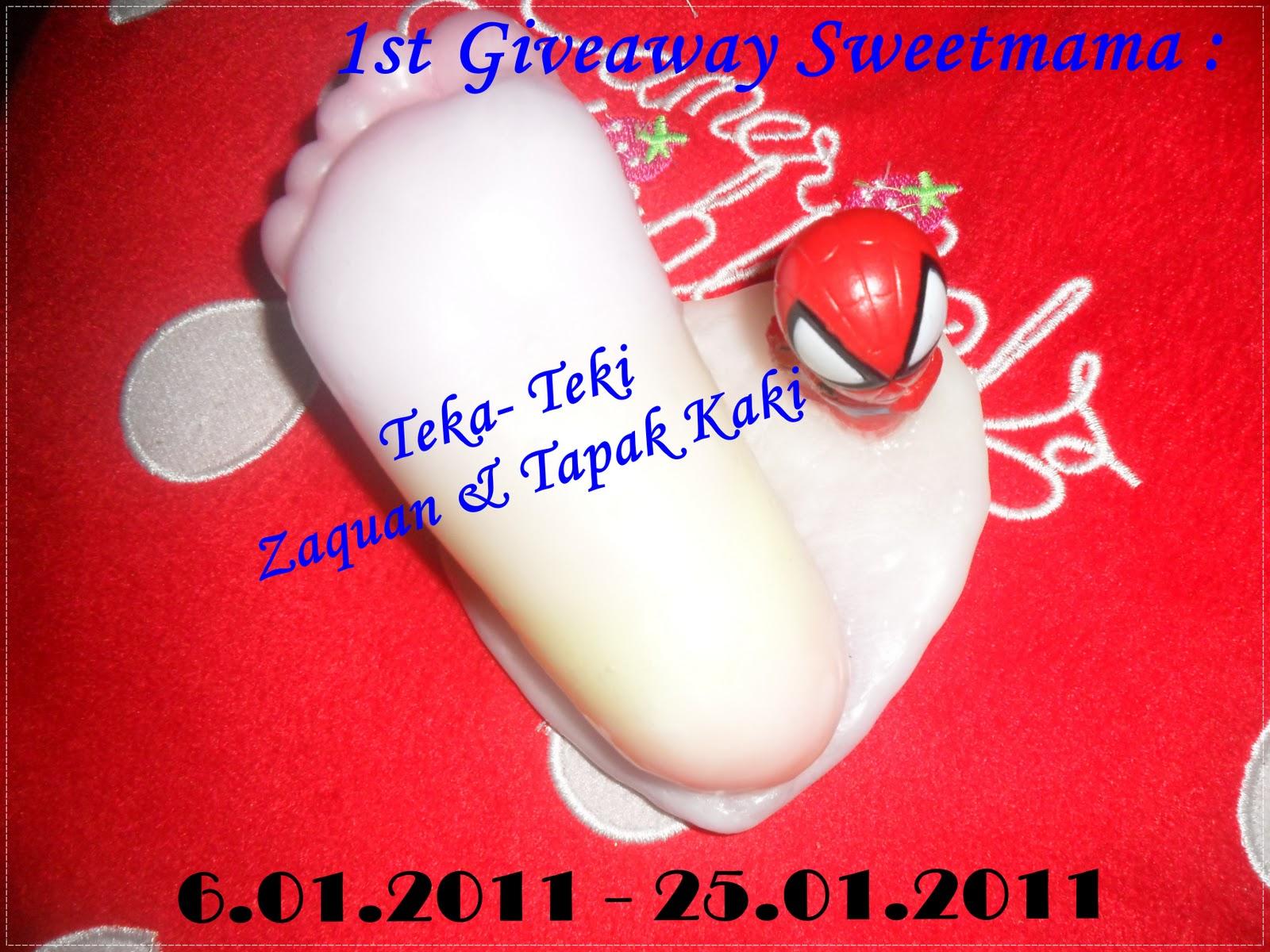1st Giveaway Sweetmama
