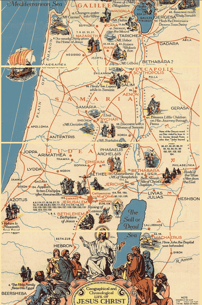Roots Of Our Faith Tour Ministry of JESUS CHRIST – Map Of Jesus Travels