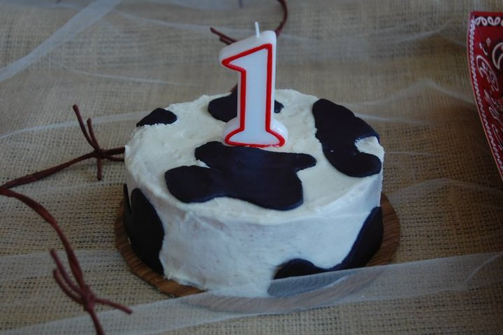 Edible Elegance Cow Smash Cake