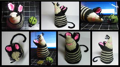 вязаная мышка коллаж