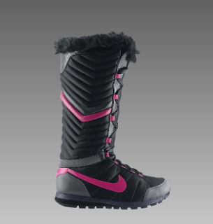 Simple Nike Winter Solstice Boot In Black Black Vivid Pink  Lyst