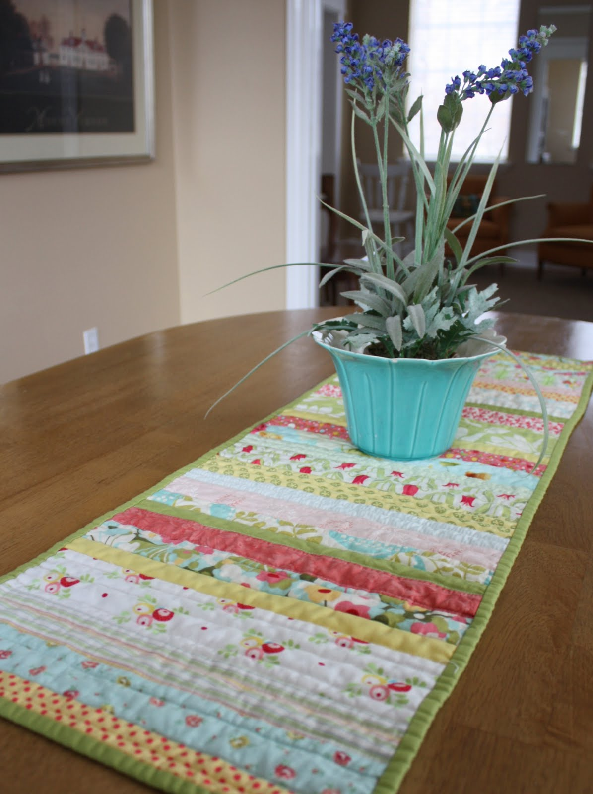 Quilt As You Go Table Runner