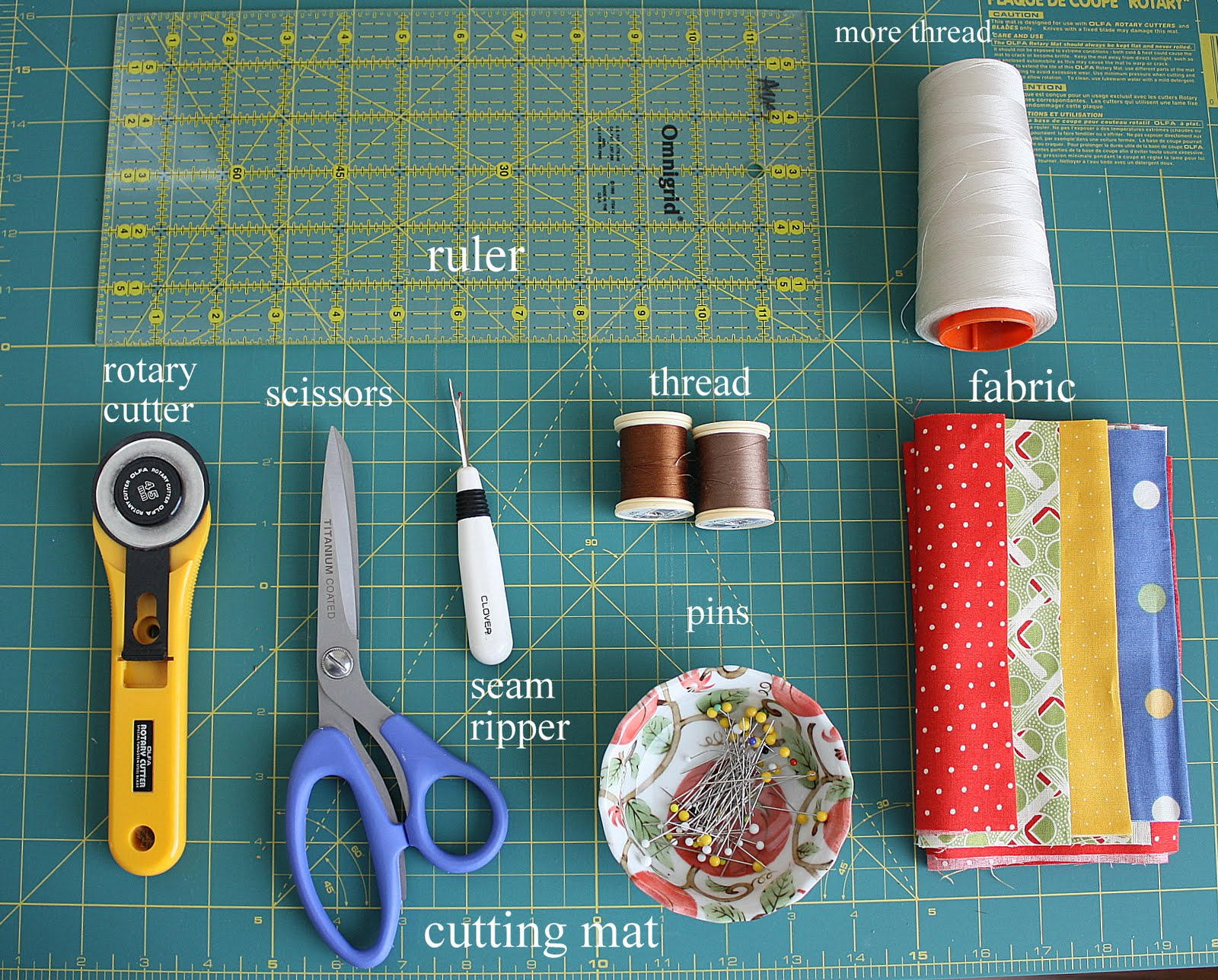 Quilting Patterns And Notions : Basic Quilting Supplies