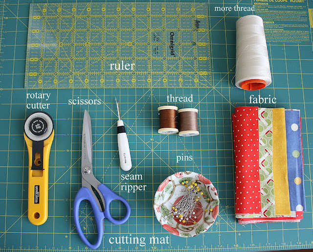 basic quilting supplies + notions