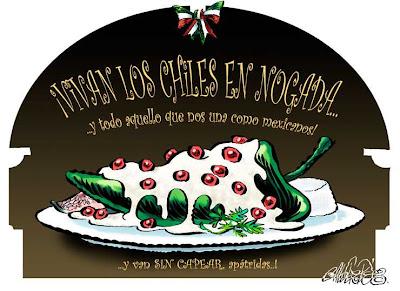 Vivan los Chiles en Nogada