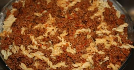 pastagratäng köttfärs taco