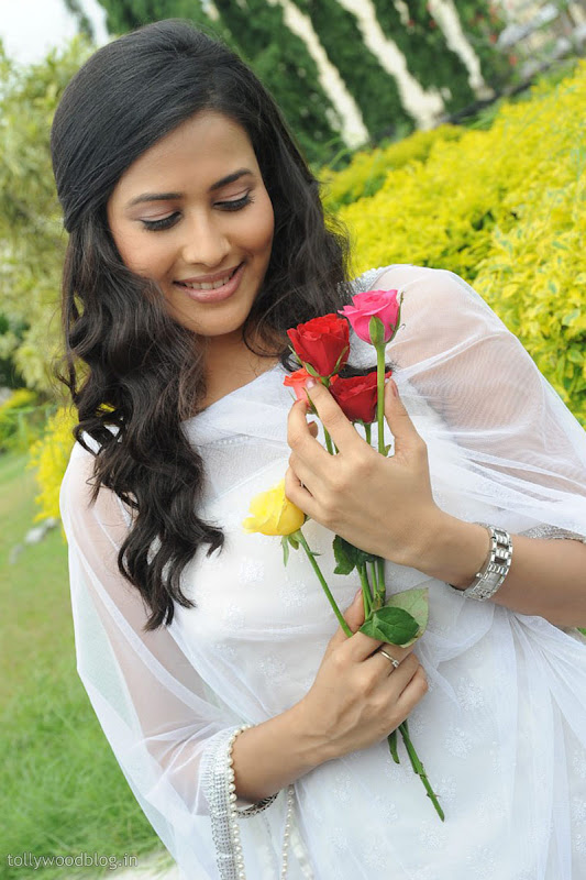 Panchi Bora Cute Looking Pics in White Dress hot photos