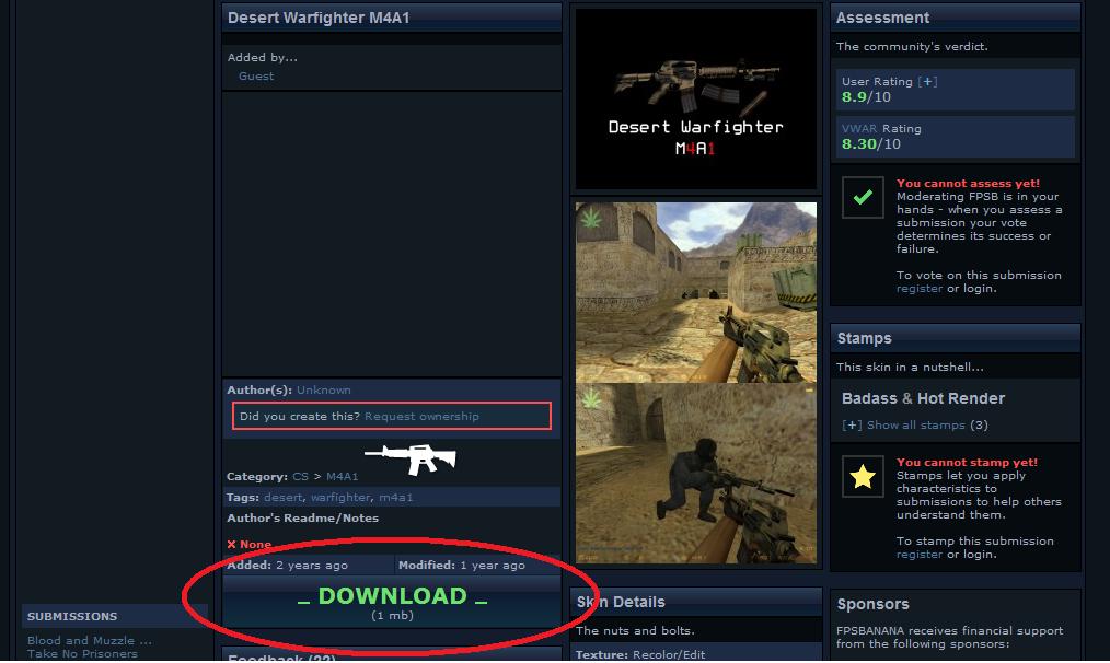 tutorial counter strike 1.6: cambiar armas y personajes Download%2Barma