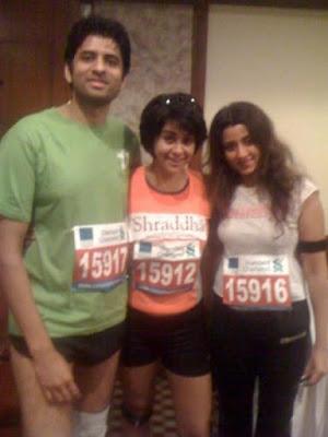 Gul Panag at Mumbai Marathon 2010