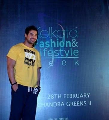 John Abraham at the Kolkata Fashion and Lifestyle Week