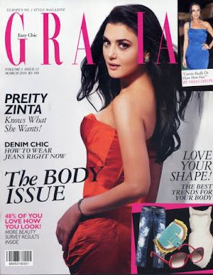 Preity Zinta on the Cover of Grazia Magazine