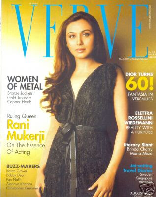 Rani Mukherjee on Verve Magazine