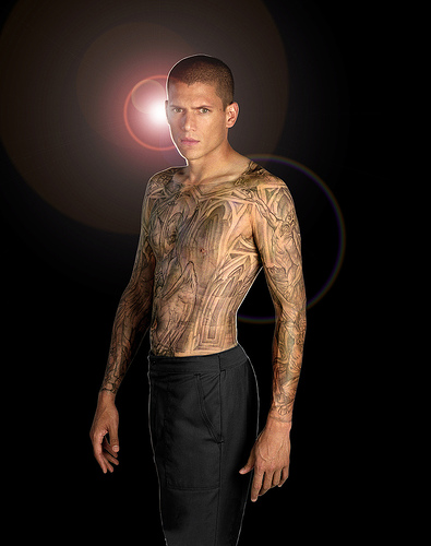 Cards and Jesus Rose Prison Break Michael Scofield Tattoos - Prison Break