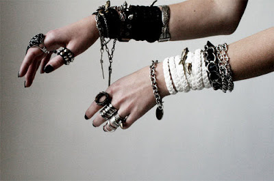 These are my bracelets and rings, to go with my outfit.