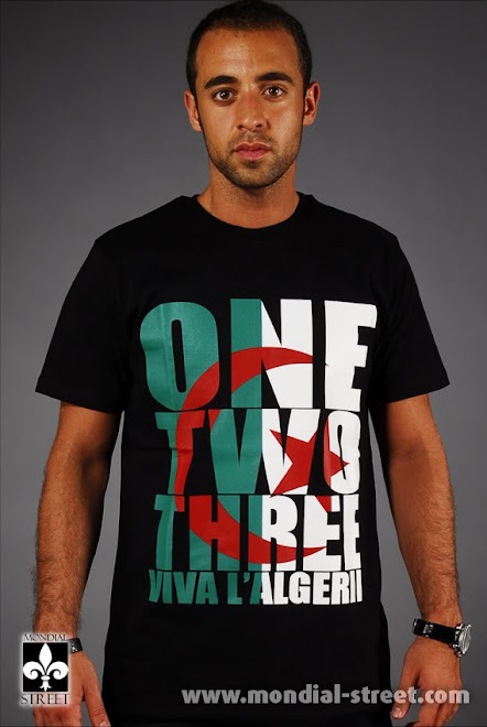 Tee Shirt One Two Three Viva l'Algérie Maghreb United Mondial-Street.com