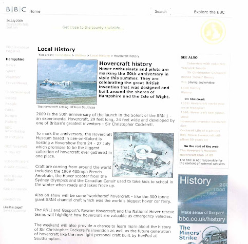 50th Hovercraft Anniversary