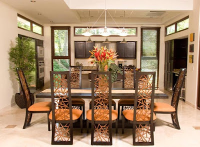 Elegant Dining Room Green House