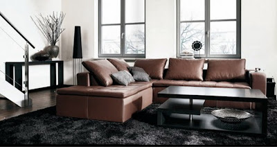 Modern Living Room Interior Design with Simple Color Blended