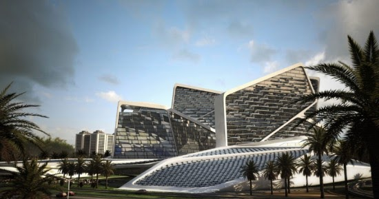 architectural design of vertical village for dubai by