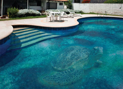 Beautiful Mosaic Glass Swimming Pool Design by Glassdecor