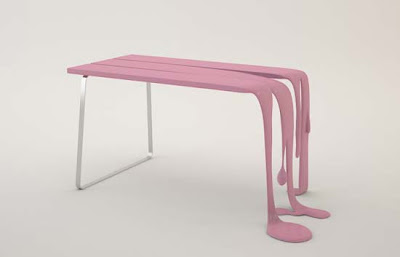 Contemporary Table Furniture of Smooth & Smoothie by Florent Degourc
