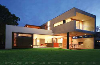 the greenfield residence is a beautiful green house designed by the