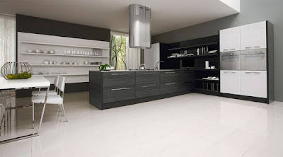 Black & White Minimalist Kitchen Design