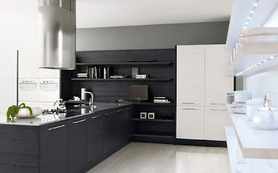 Black & White Minimalist Kitchen