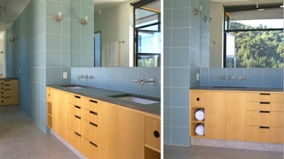Modern Bathroom Redwood Forest House by James Bourret