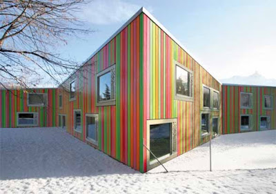 Monthey Kindergarden by Bonnard Woeffray Architectes