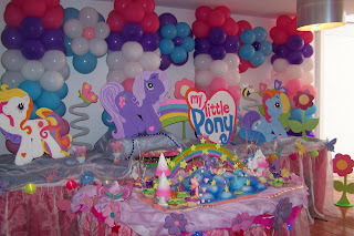 DECORACION DE MY LITTLE PONY Y BACKYARDIGANS