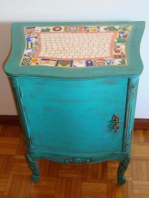 Viejos son los trapos muebles reciclados combinados con - Muebles vintage reciclados ...