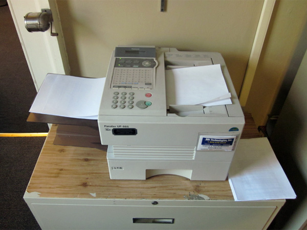 My signed acceptance forms go through the fax machine at 52 Hillhouse.