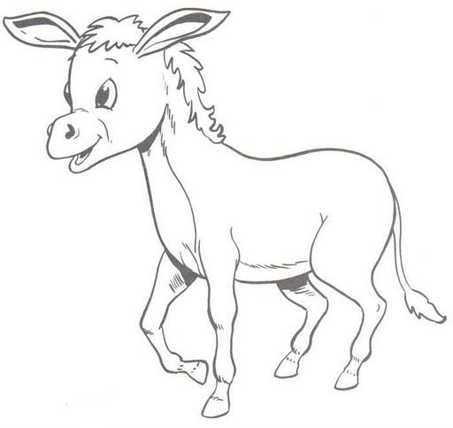 Dibujos para colorear: Dibujos para colorear - Burro