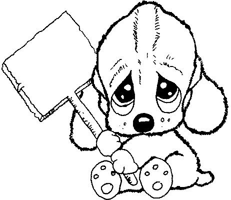 Perritos bebés bonitos para colorear - Imagui