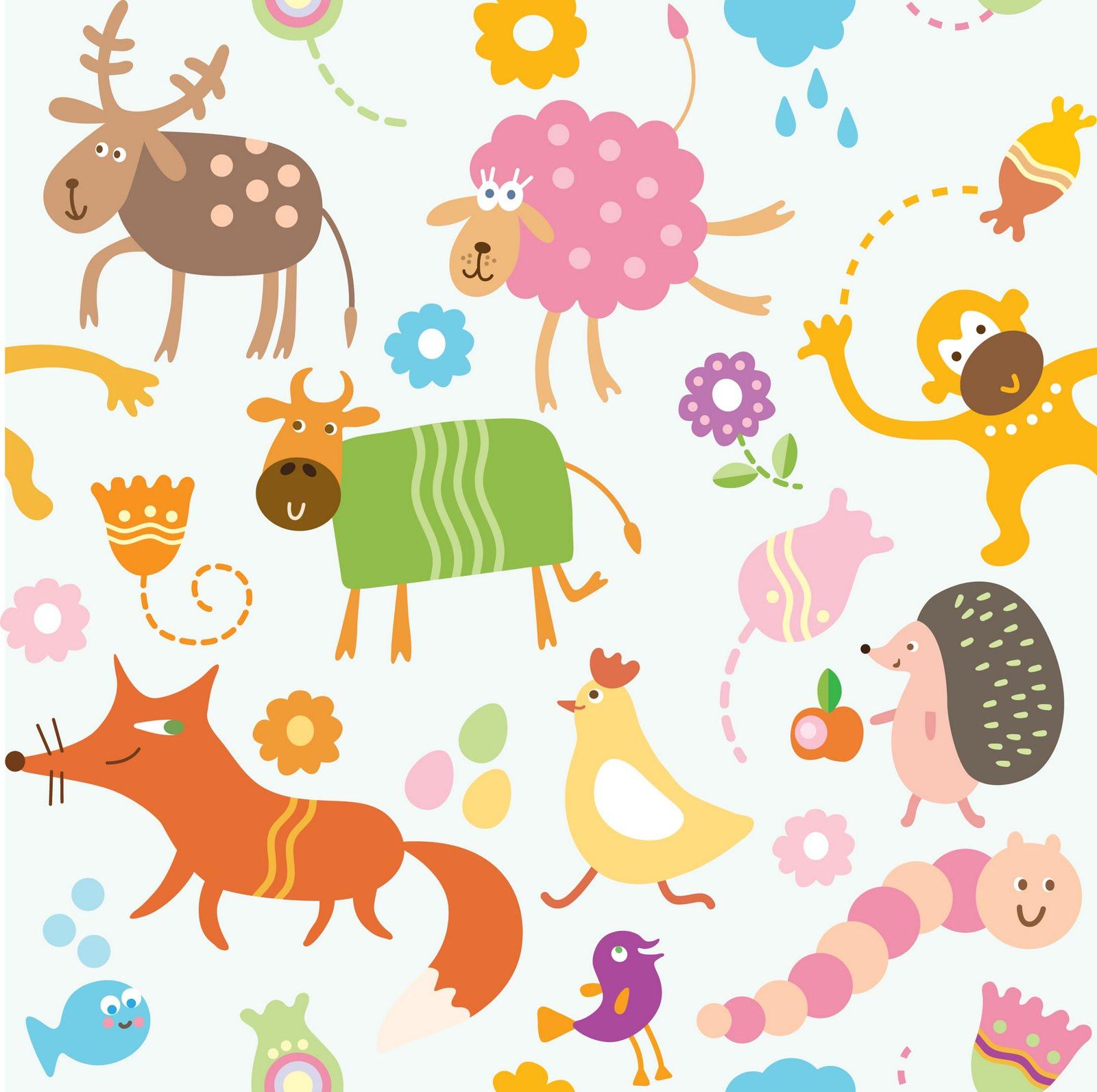 Fondos infantiles de animales