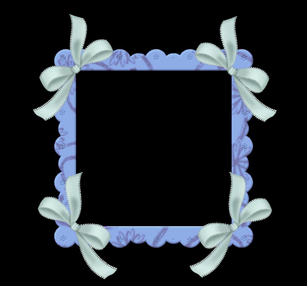 marcos para fotos infantiles rosa y azul con lacitos png