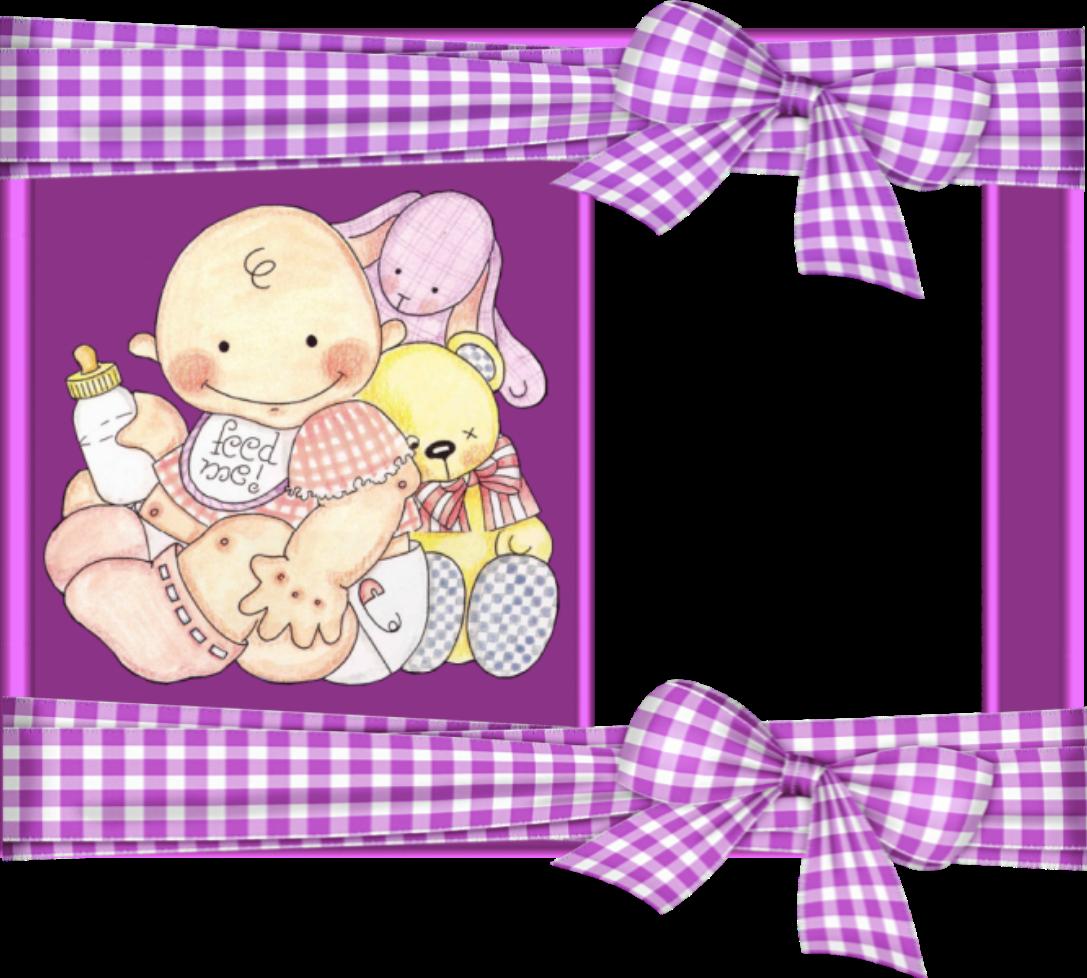 Recursos infantiles marcos para fotos infantiles con lazos de cuadros - Imagenes para cuadros ...