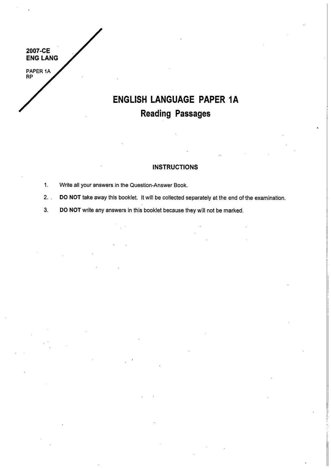 hkcee past paper