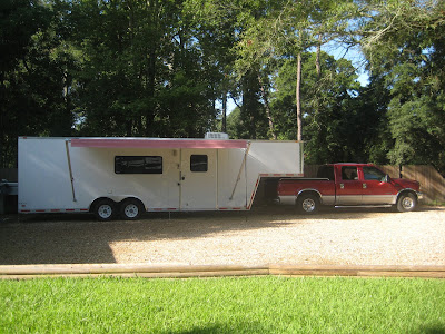 Here S Another Look At The Awning And Whole Trailer Hooked Up To Our Truck