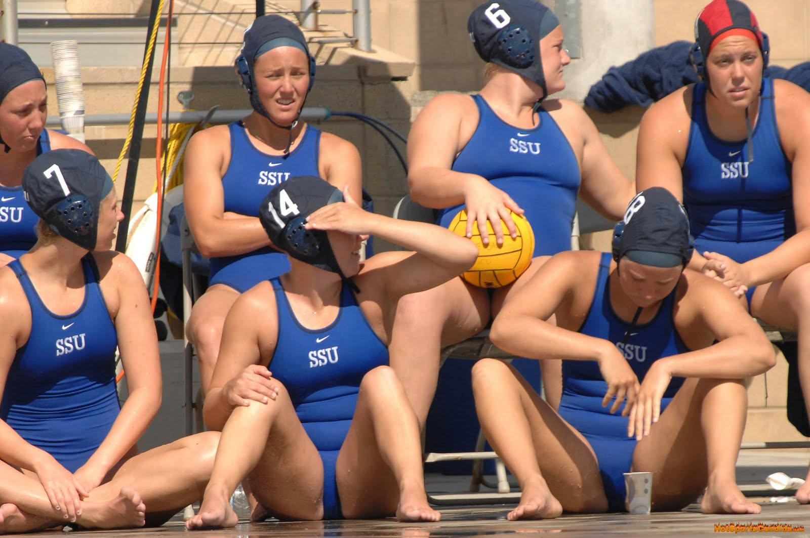 Naked sports girls water polo