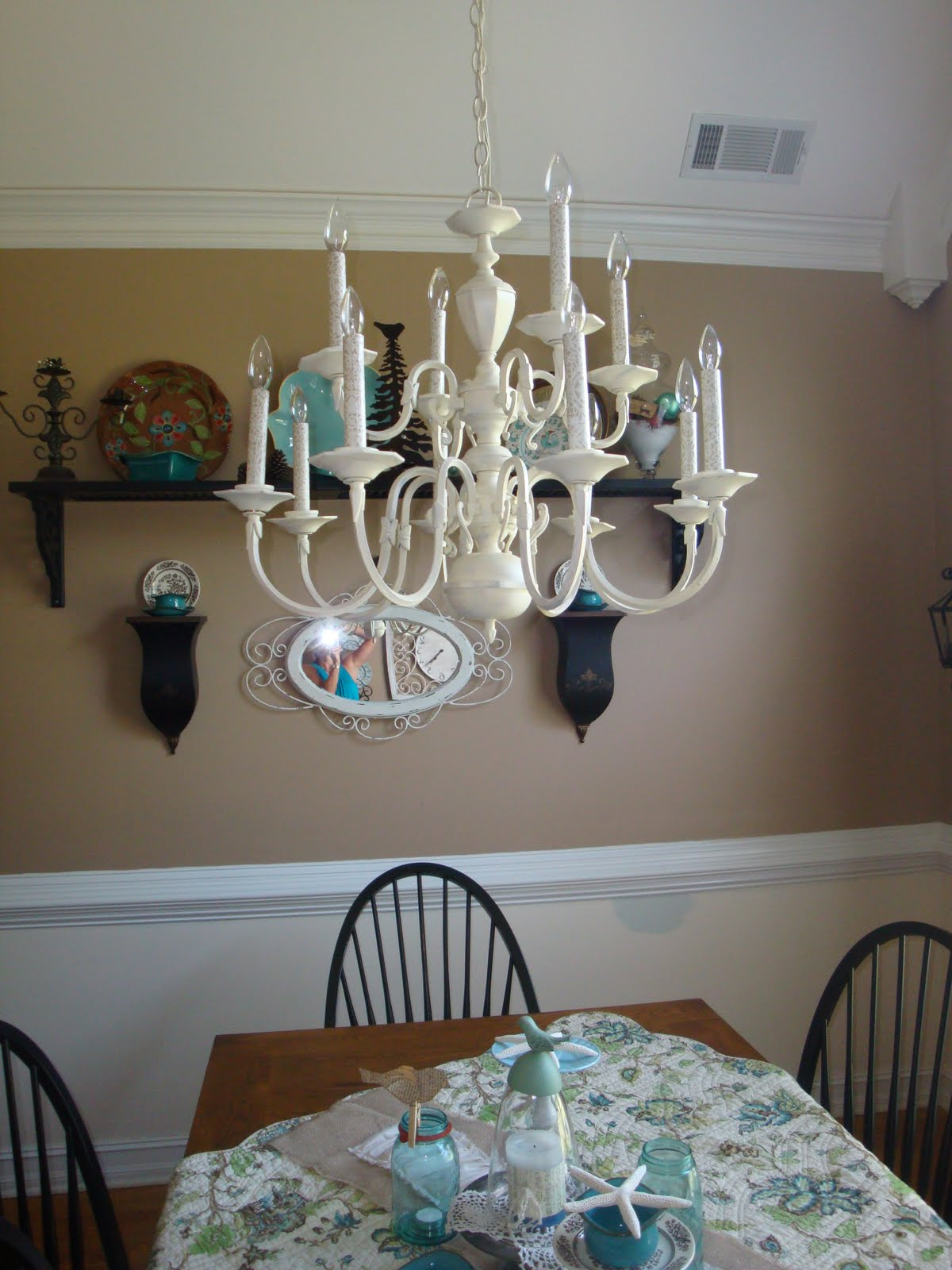 A Little Piece of Heaven: A $4 chandelier makeover